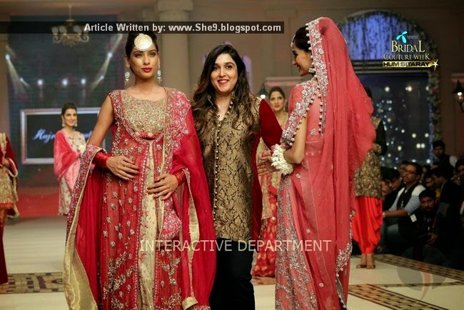 Designer Bridal Collection at TBCW2014 by Hajra Hiyat