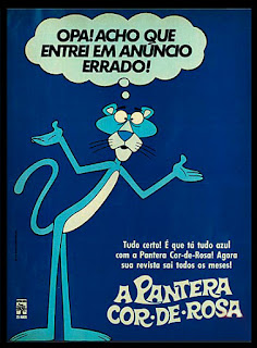 the pink phanter; editora abril; 1975, os anos 70; propaganda na década de 70; Brazil in the 70s, história anos 70; Oswaldo Hernandez;