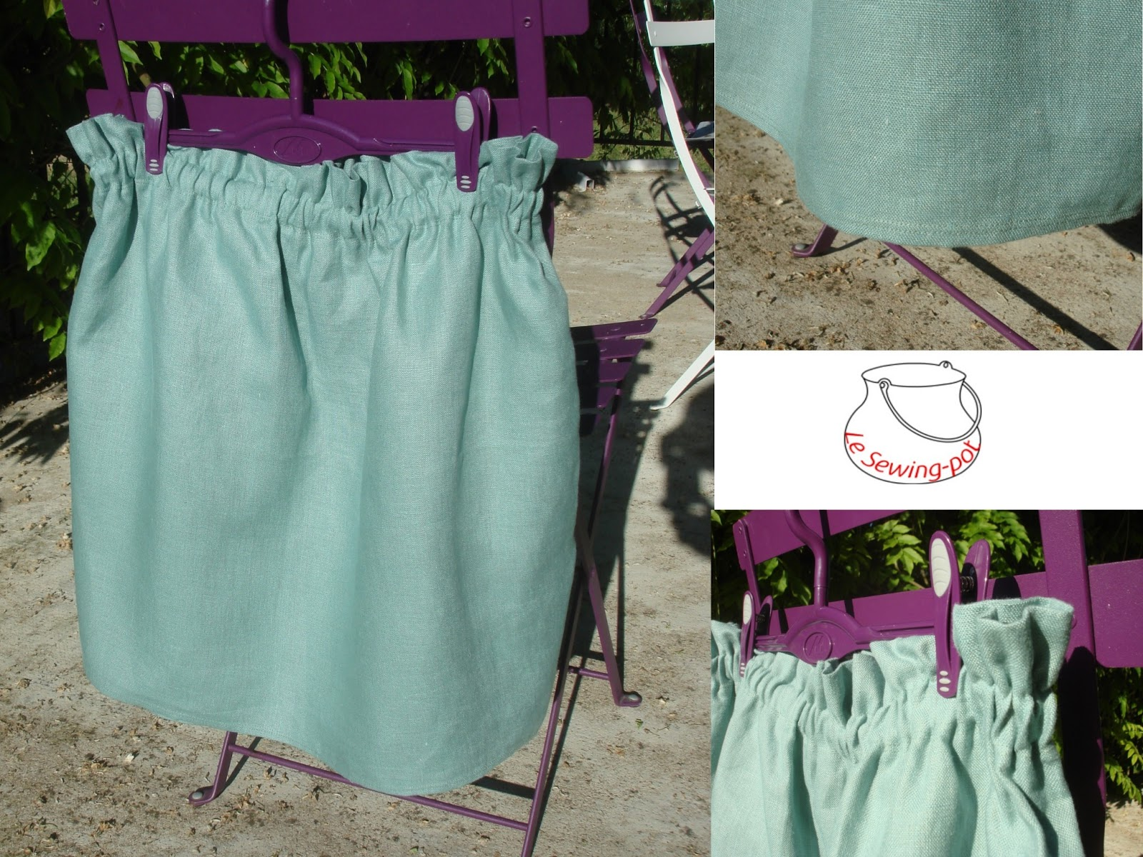 jupe sac paper-bag skirt
