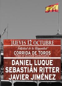 MADRID LAS VENTAS 12-10-2017. DIA DE LA HISPANIDAD. ULTIMA CORRIDA DE LA TEMPORADA.