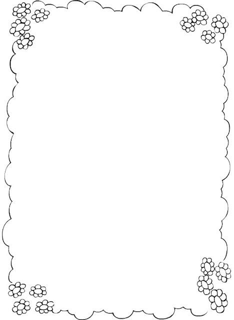 Marcos para colorear de rosas - Imagui
