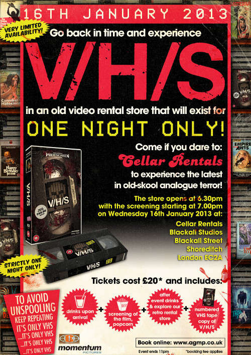 V/H/S Momentum Screening Invite