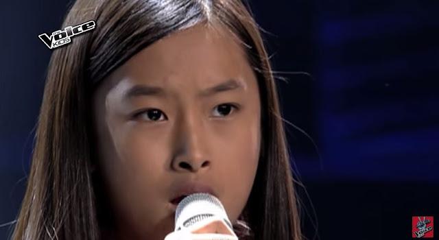 Kiyana Bongat belts out Bruno Mars hit on 'The Voice Kids'