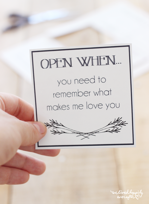 "We Lived Happily Ever After: Printable ""Open When"" Envelope Labels for ..."