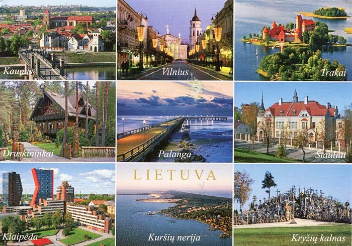 la bo te aux lettres du monde carte postale de lituanie. Black Bedroom Furniture Sets. Home Design Ideas