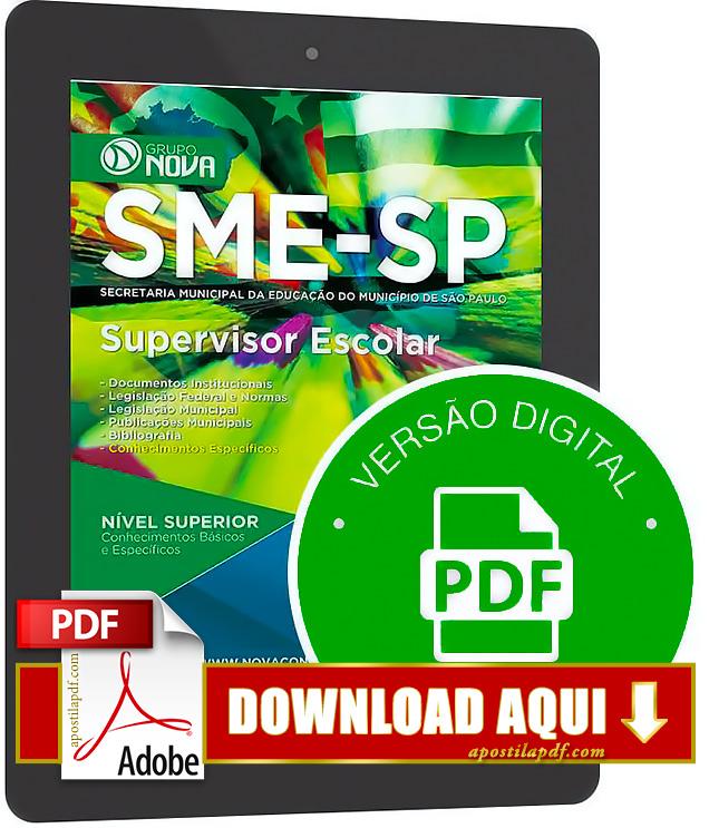 Apostila SME SP 2015 Supervisor Escolar PDF Download