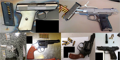 Top to Bottom - Left to Right: Firearms Discovered at ABQ, BNA, PHX, SAN, PIT, MIA