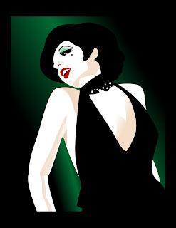 Dibujo inspirado en Liza Minelli en Cabaret