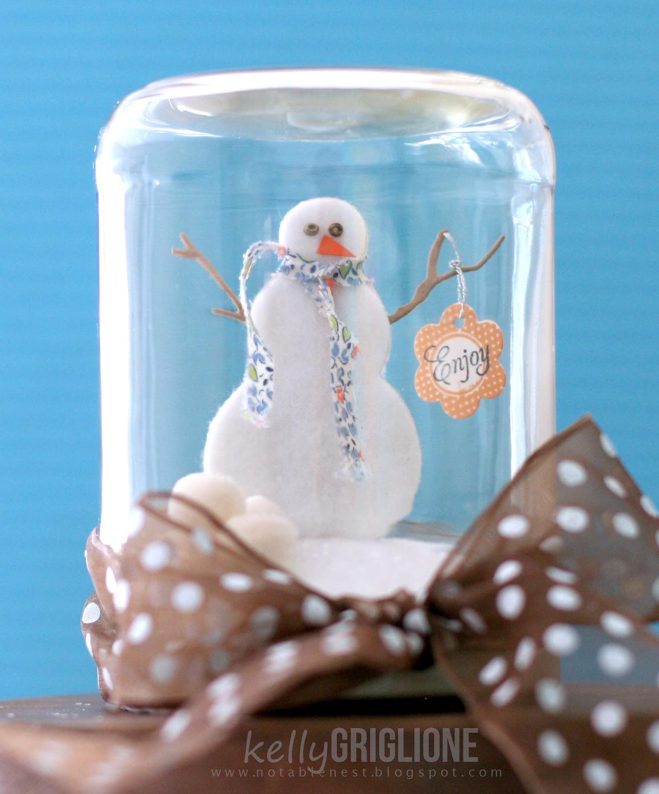 Notable Nest: Snowman Snow Globe