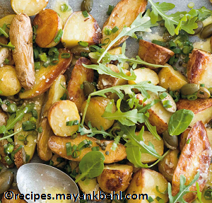 baby-potato-salad-with-celery-and-walnuts recipe