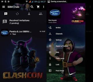 BBM Mod Clashcon, BBM Mod 2.11.0.16 Tampilan Clash of Clans
