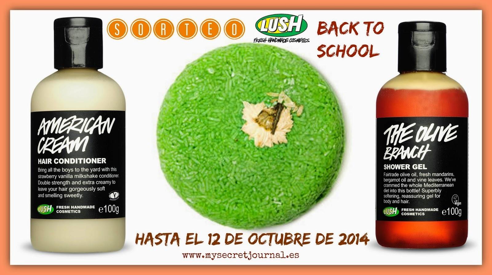 "Sorteo My Secret Journal Blog ""Back to School con LUSH Cosmetics"""