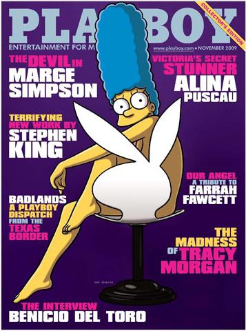 """Não sei se é zuação , mais confira os """"desenhos"""", Marge Simpson capa da Playboy americana de novembro de 2009!"""