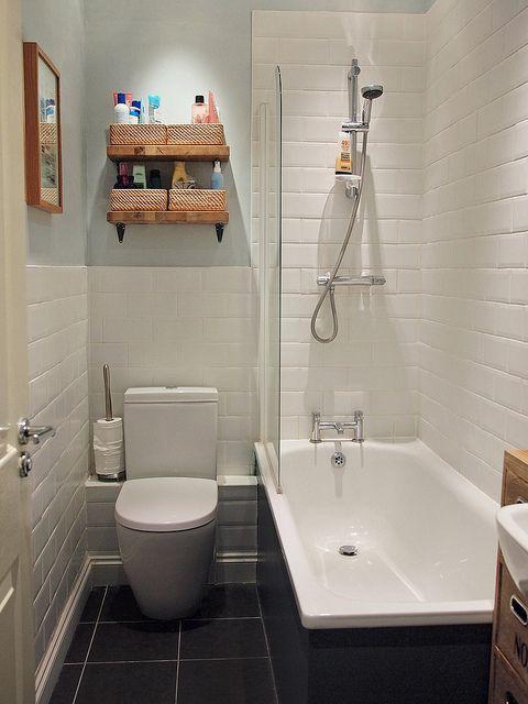 Ideas Para Decorar Baño Blanco:Ideas para baños pequeños