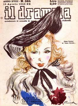 Il Dramma n. 384, 15 agosto 1942, copertina