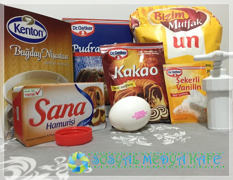 kuş yuvası kurabiye malzemeleri