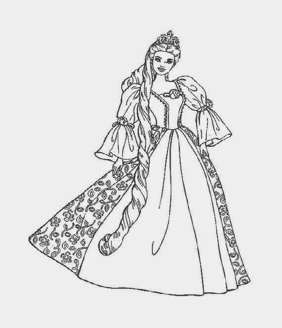 island princess barbie coloring pages - photo#8