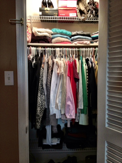 New mama 39 s corner small closet ideas organization - How to create a closet in a small bedroom ...
