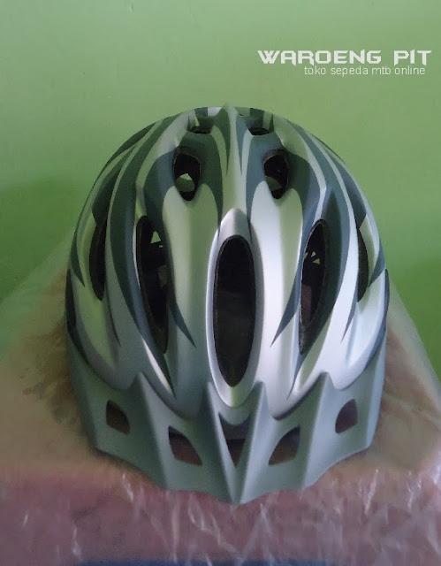 Jual Helmet Wim Cycle silver sepeda balap murah 2