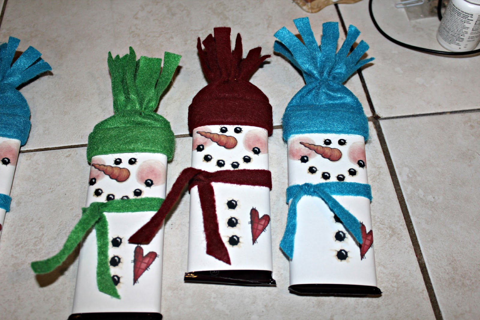 Deanne S Crafting Adventures Snowman Hershey Bar Gifts