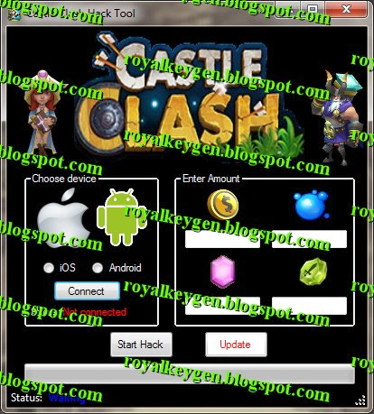 Castle Clash Cheats and Hack Tool [NEW] [Unlimited Gold, Mana, Gems