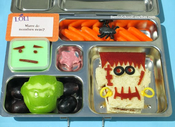 Frankenstein Halloween bento lunch