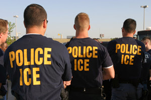 Immigration and Custom Enforcement agents in the field.