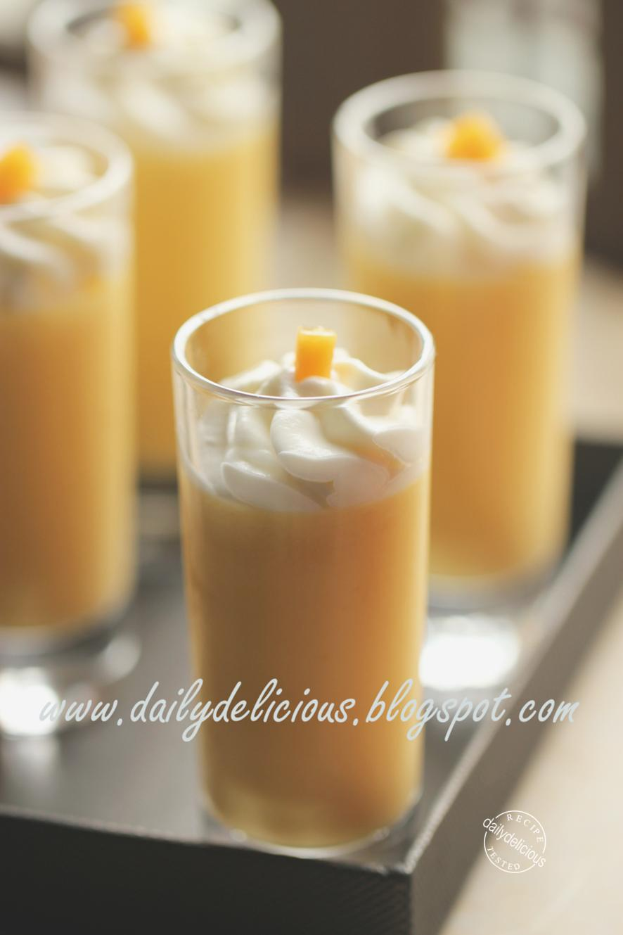 Mango Pudding: Sweet fragrance, delicious taste