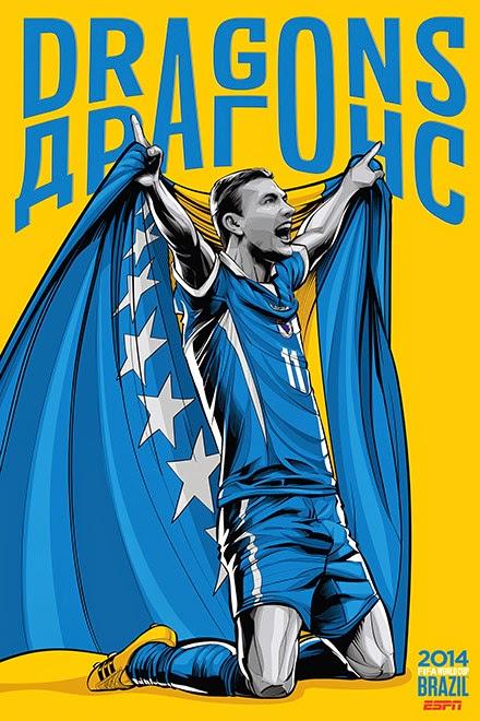 Poster keren world cup 2014 - Bosnia and Herzegovina