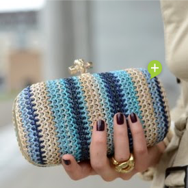 Statement Stripes Clutch