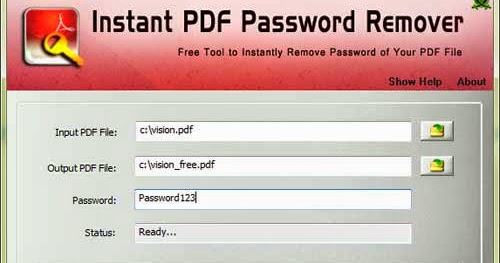 remove security from pdf forgot password