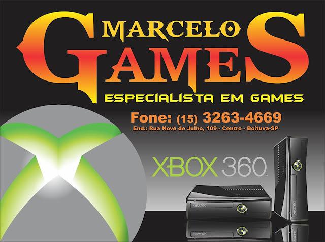MARCELO GAMES ESPECIALISTA EM GAMES Rua. Nove de Julho, 109 Centro - Boituva - SP tel: (15) 3263-4669 / 99714-3157