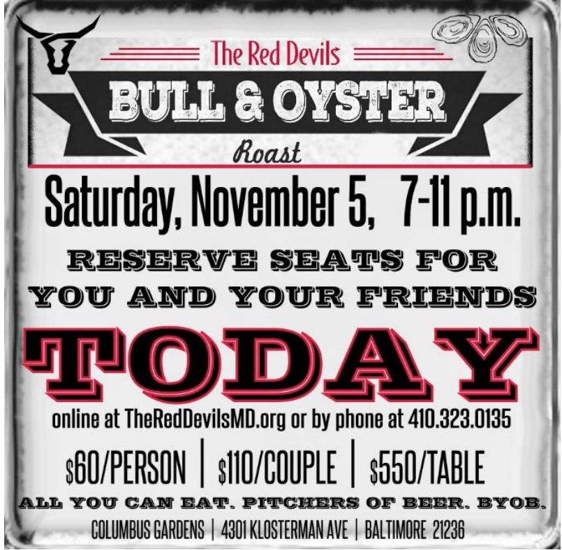 RED DEVILS BULL & OYSTER ROAST