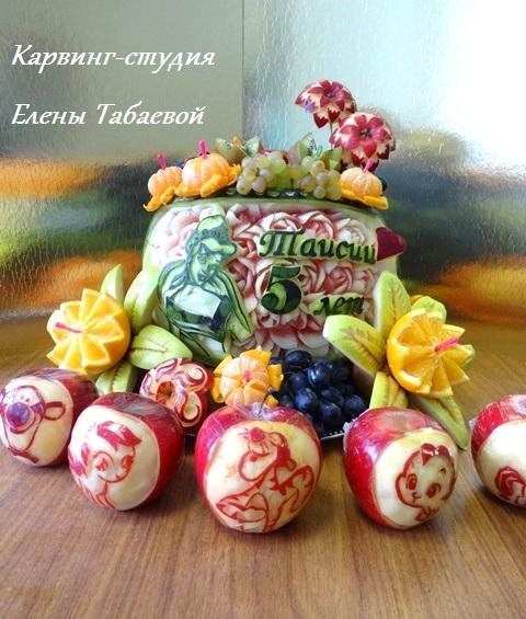 фруктовые блюда и фруктовые корзины южно-сахалинск