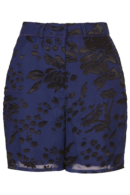 topshop blue shorts