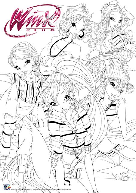 Immagini winx da colorare page 3 for Disegni regal academy da colorare