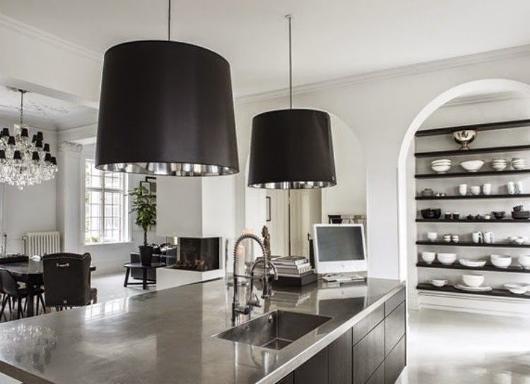 A touch of luxe: luxe mansion in black and white...