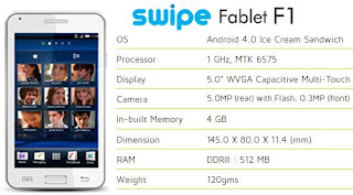 Swipe Fablet F1 price image