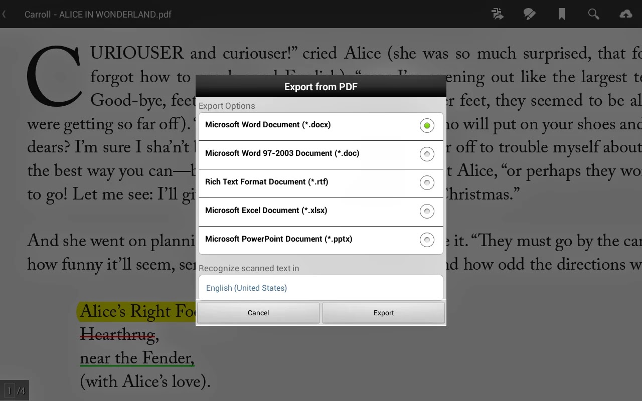 Adobe Reader Android Apk resimi 5