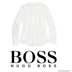 Queen Letizia Style HUGO BOSS Blouses and UTERQUE Coat