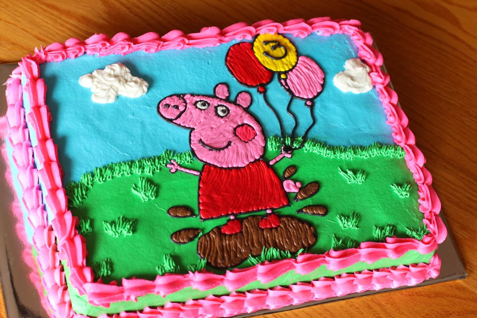 Peppa Pig Birthday Cake Template | Rachael Edwards