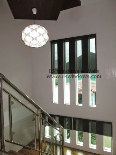 Sunscreen Roller Shades  Installed in Gorgeous Staircase Window - Gen. Trias, Cavite