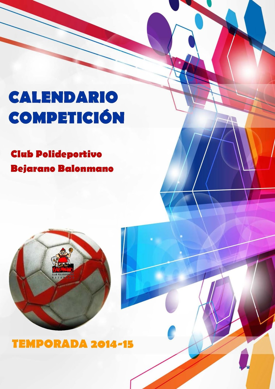 cartel anunciador del calendario de club