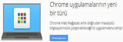 Chrome Uygulamaları Masaüstünde