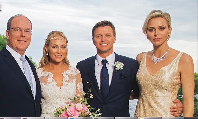 Princess Charlene Gareth Wittstock wedding Roisin Galvin