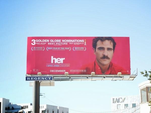 Her movie billboard