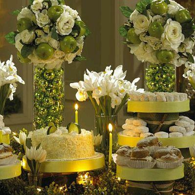 Decoracion de mesas para buffet centros y arreglos florales parte 1 - Decoracion buffet ...