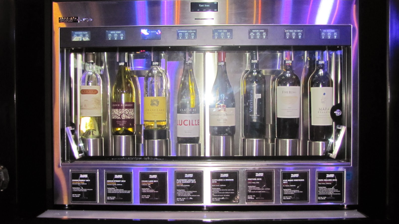 FTW! Blog, Planet Grapes Cebu, Enomatic Dispenser, Wine dispenser