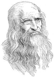 Leonardo da Vinci From a drawing in red chalk by himself