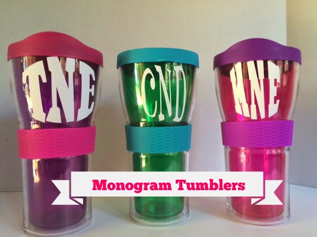 Monogram Tumblers {The Preppy Strawberry}